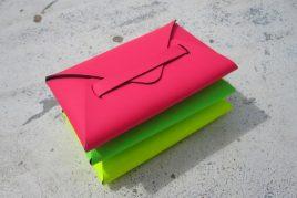 Porte-cartes de visite en cuir recyclé